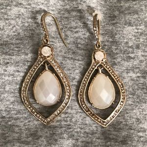 Ivory Crystal statement earrings